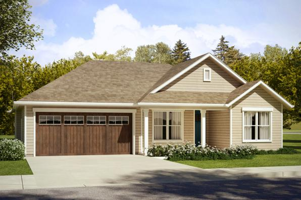 Ranch House Plan - Eastgate 31-047 - Front Elevation