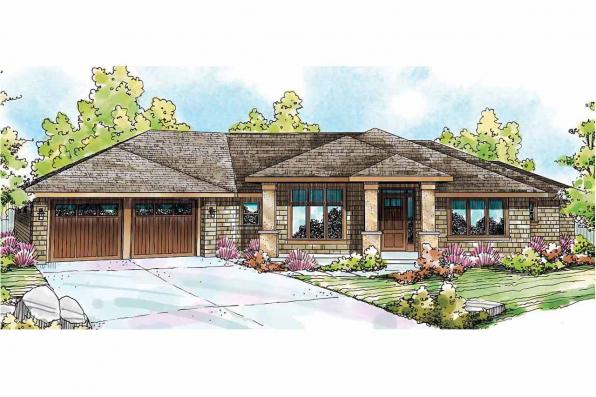 Shingle Style House Plan - Oakshire 30-770 - Front Elevation