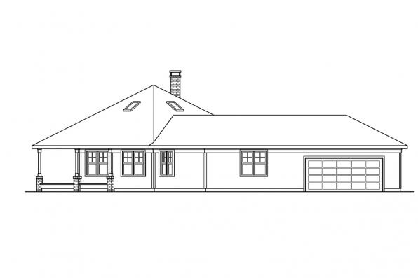 Shingle Style House Plan - Oceanview 10-258 - Right Elevation