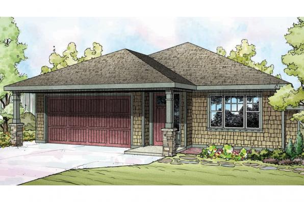 Shingle Style House Plan - Pine Creek 30-885 - Front Elevation