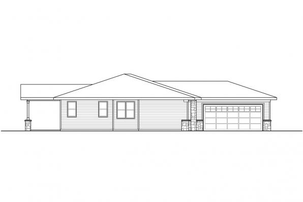 Single Story House Plan - Wasco 31-106 - Right Elevation