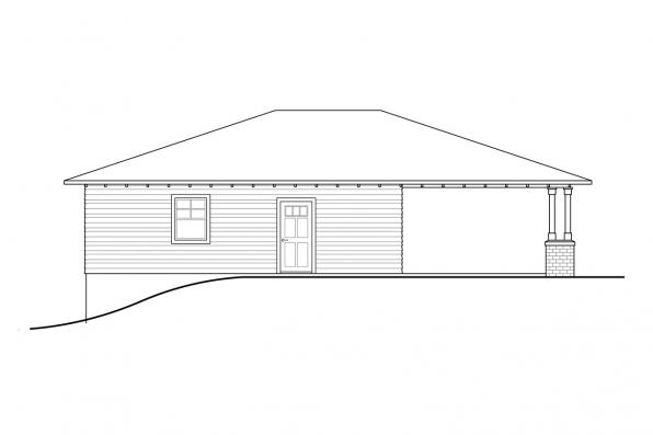 Sloped Lot Garage Plan - Garage 20-309 - Right Elevation
