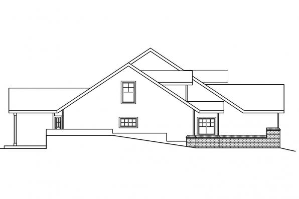 Sloping Lot House Plan - Cumberland 30-606 - Right Elevation