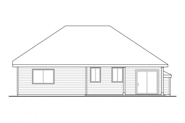 Small House Plan - Andover 30-824 - Rear Elevation