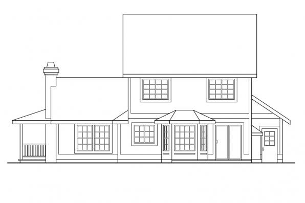 Small House Plan - Bristol 10-184 - Rear Elevation