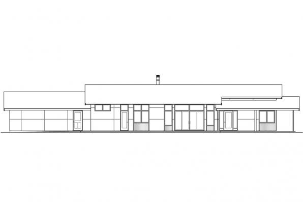 Small House Plan - Covina 30-985 - Right Elevation