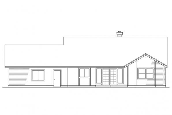Small House Plan - Marysville 30-112 - Rear Elevation