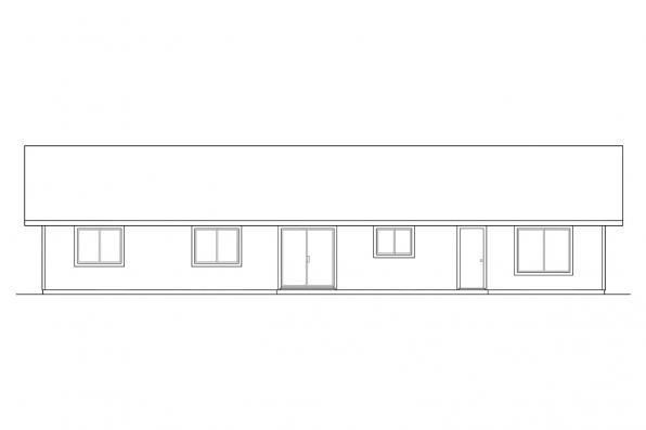 Small House Plan - Weston 30-085 - Rear Elevation