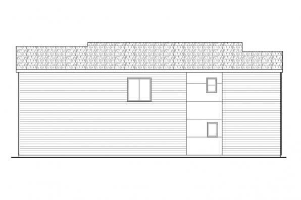 Southwest House Plan - Alder Ridge 30-906 - Right Elevation