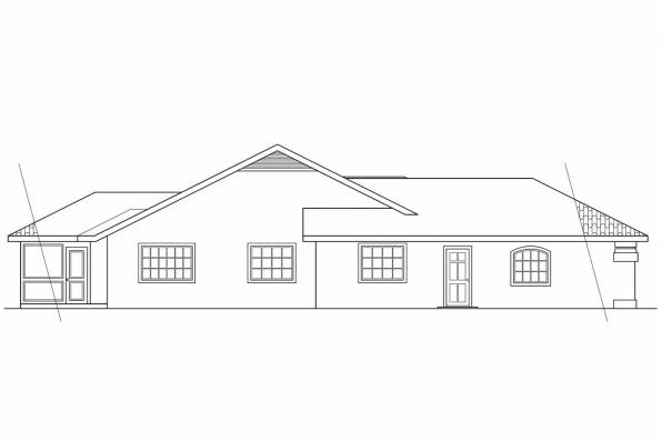 Southwest House Plan - Alessandro 11-077 - Right Elevation
