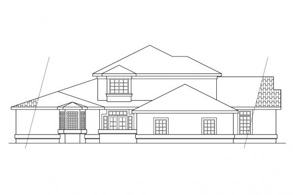 Southwest House Plan - Amherst 11-030 - Right Elevation