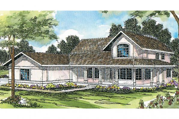 Southwest House Plan - Artesia 10-168 - Front Elevation