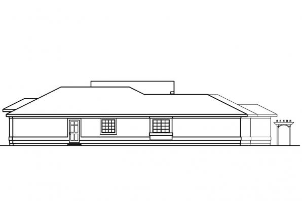 Southwest House Plan - Jacobson 30-397 - Left Elevation