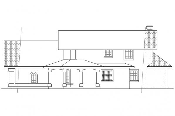 Southwest House Plan - Kendall 11-092 - Left Elevation