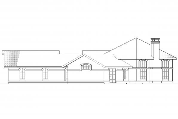 Southwest House Plan - Rosabella 11-137 - Left Elevation