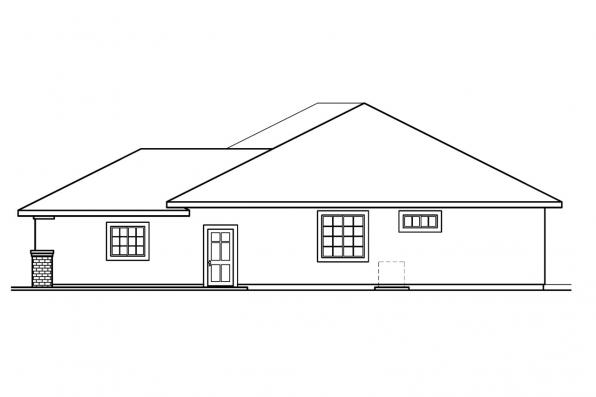 Southwest House Plan - Royston 30-398 - Left Elevation