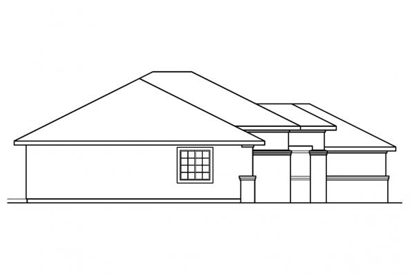 Southwest House Plan - Royston 30-398 - Right Elevation