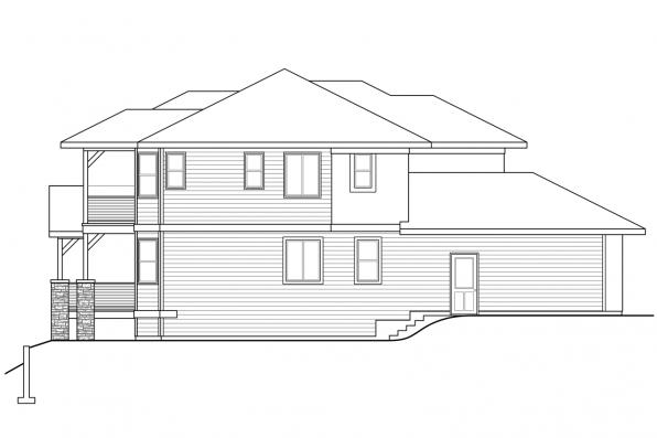 Southwest House Plan - Summerdale 31-013 - Right Elevation