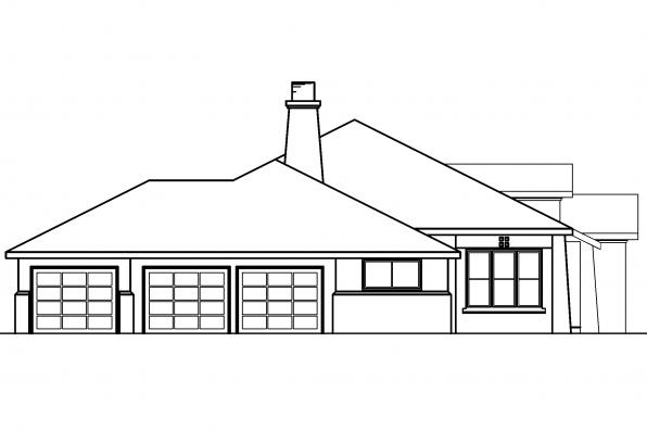 Spanish House Plan - Mesilla 30-183 - Right Elevation