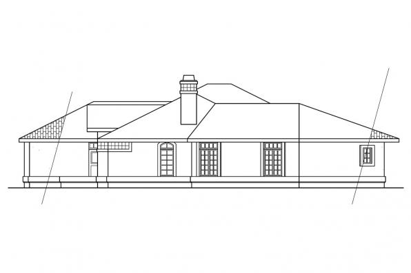 Spanish Style House Plan - Grenada 11-043 - Left Elevation