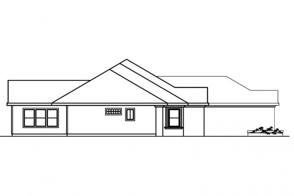 Spanish Style House Plan - Roselle 30-427 - Right Elevation