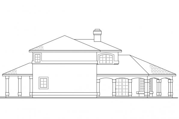 Spanish Style House Plan - Southport 11-149 - Right Elevation