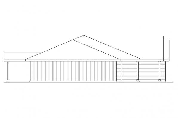 One Story House Plan - Townsend 31-211 - Right Elevation