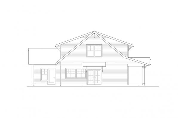 Three Bedroom House Plan - Primrose 30-826 - Rear Elevation