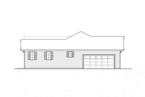 Three Bedroom House Plan - Agness 31-293 - Right Elevation