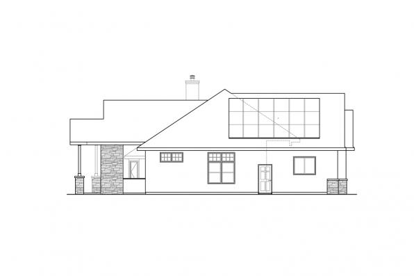 3 Bedroom House Plan - Meadows Edge 31-247 - Right Elevation