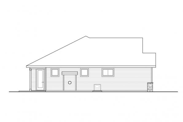 Three Bedroom House Plan - Stowe 31-138 - Right Elevation
