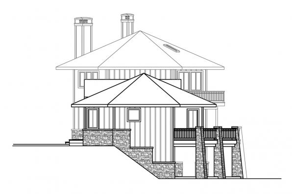 Contemporary House Plan - Ashcroft 31-187 - Left Elevation