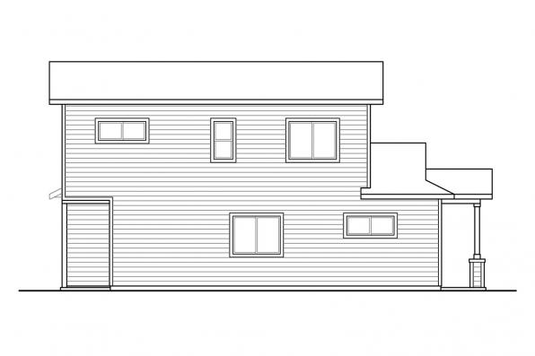 Country Duplex Plan Culberson 60-053 - Right Elevation