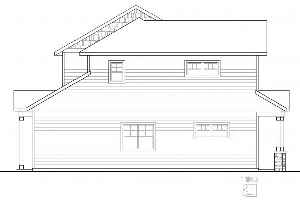 Cottage House Plan - Warrendale 60-036 - Right Elevation