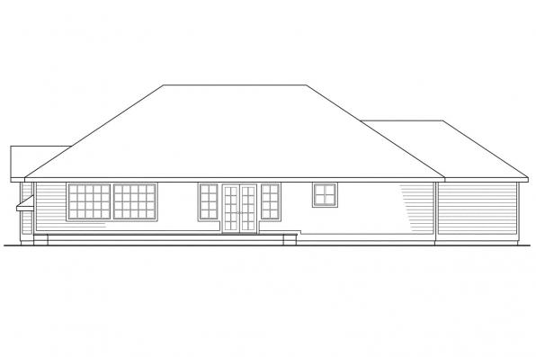 Traditional House Plan - Camden 30-051 - Rear Elevation