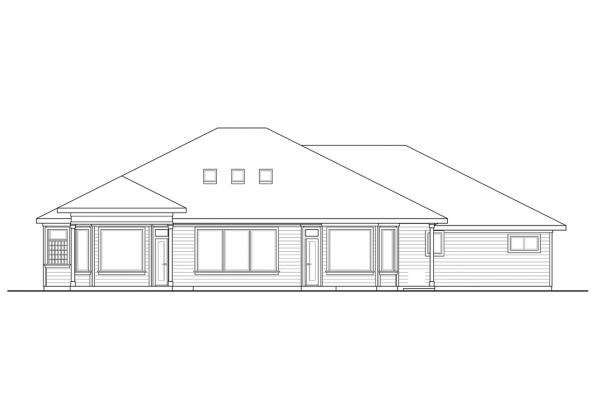 Traditional Home Design Tahoma 31-123 - Rear Elevation