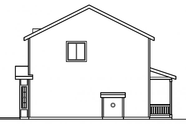 Traditional House Plan - Adkins 30-197 - Right Elevation