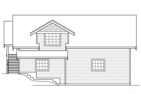 Traditional House Plan - Alexandria 30-974 - Right Elevation