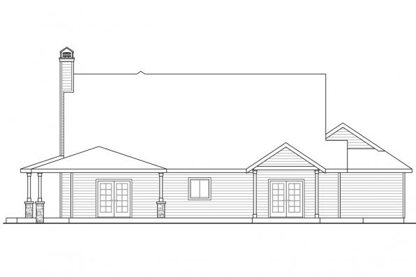 Traditional House Plan - Anchorage 30-930 - Rear Elevation