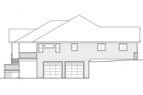Traditional House Plan - Berkshire 30-995 - Right Elevation