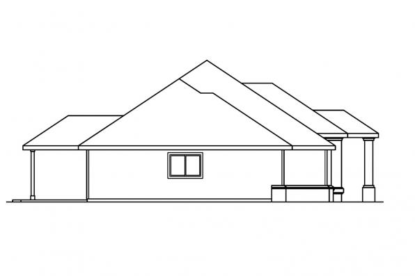 Traditional House Plan - Brennon 30-359 - Right Elevation