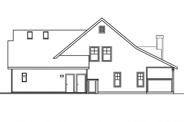 Traditional House Plan - Bryson 30-204 - Left Elevation