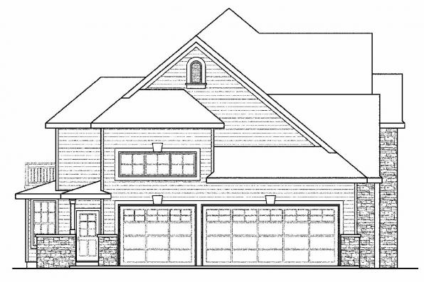 Traditional House Plan - Charlottesville 30-650 - Right Elevation