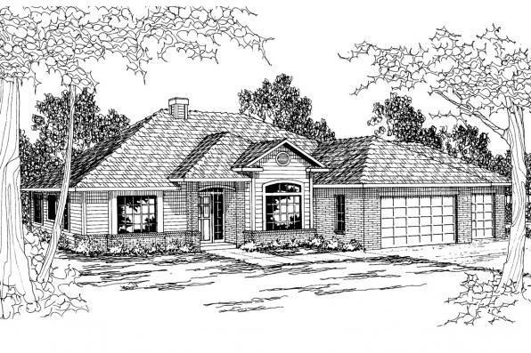 Traditional House Plan - Clarkston 30-080 - Front Elevation
