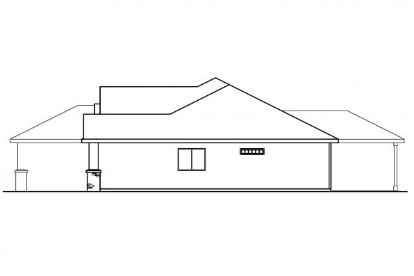 Traditional House Plan - Clearfield 30-318 - Left Elevation