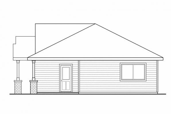 Traditional House Plan - Hopewell 30-793 - Left Elevation