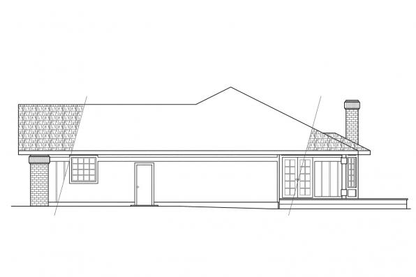 Traditional House Plan - Jefferson 10-056 - Left Elevation