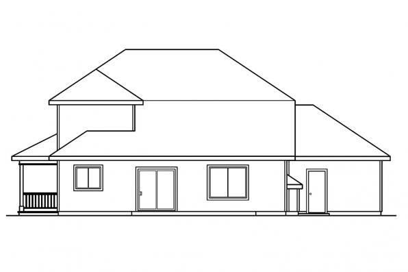 Traditional House Plan - Kaitlyn 30-338 - Rear Elevation