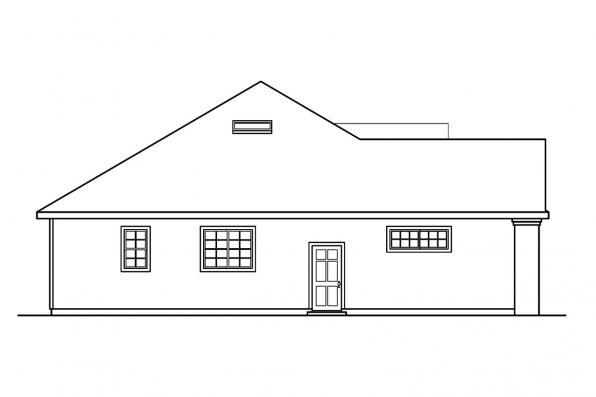 Traditional House Plan - Marlowe 30-362 - Right Elevation
