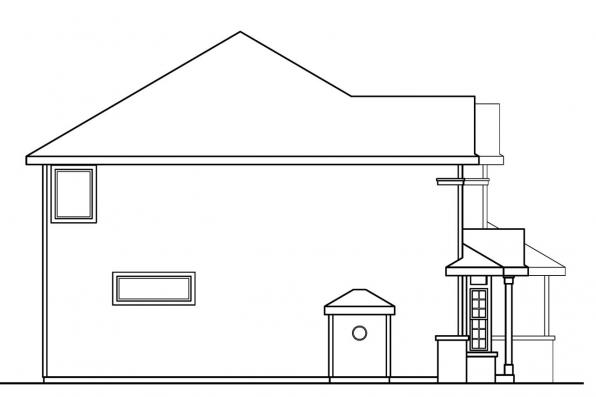 Traditional House Plan - Masterson 30-455 - Right Elevation